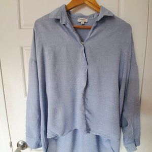 1861 blue shirts button-up